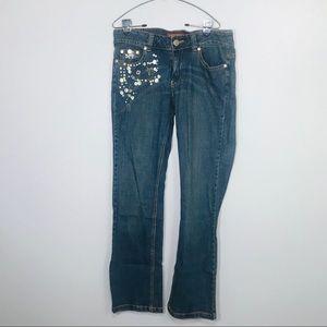Boom Boom Jeans. Denim Jeans w/ Embellished pocket